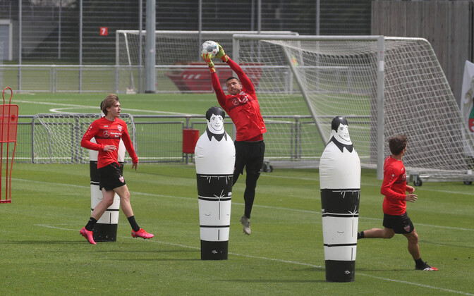 Stuttgardi mängijad treeningutel