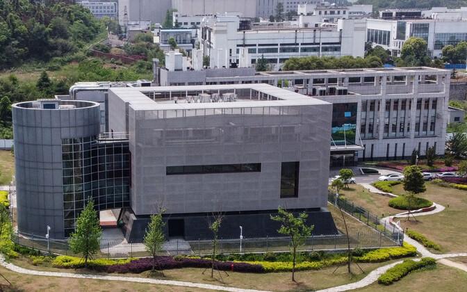 Vaade Wuhani viroloogiainstituudi (WIV) kõrgeima ohtlikkusetasemega laboratooriumile P4 .