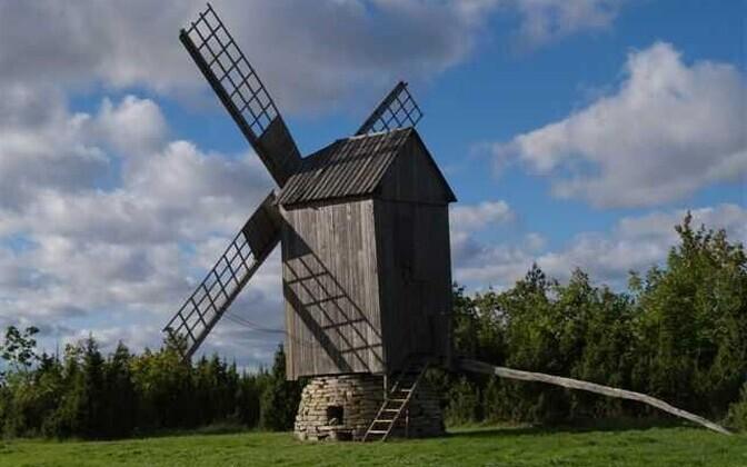 Windmill on the island of Muhu.