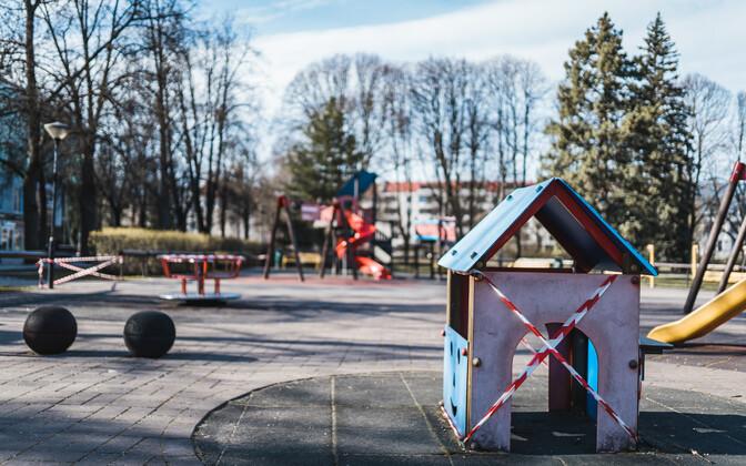 A closed playground in Tartu.