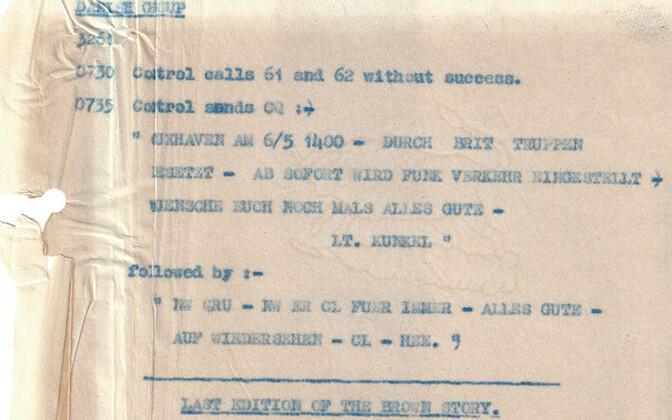 Viimane kinnipüütud sakslaste sõnum Bletchley Parki arhiividest.