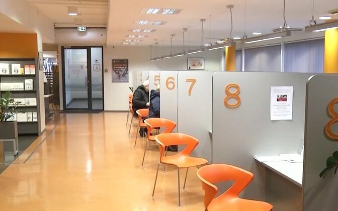 Unemployment Insurance Office (Töötukassa) branch in Pärnu.