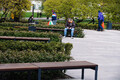 New benches installed in Tammsaare Park.