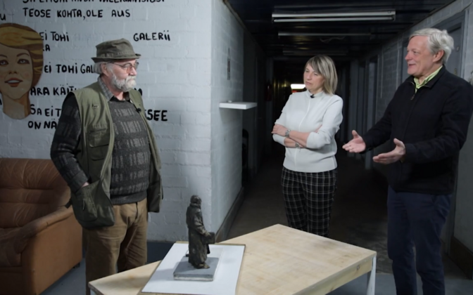 Конкурс на изготовление памятника Яану Кроссу выиграл Яак Соанс.