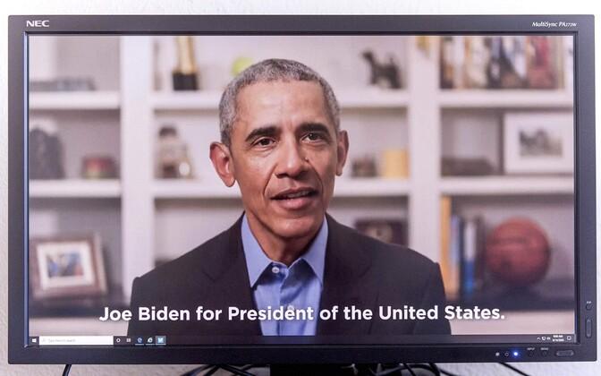 Barack Obama Joe Bideni toetuseks tehtud videopöördumises.