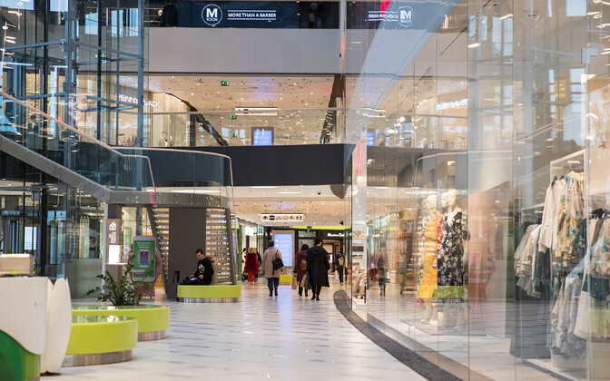 Ülemiste Keskus shopping mall in Tallinn, on Monday morning, following the lifting of restrictions which had kept most businesses closed since late March.
