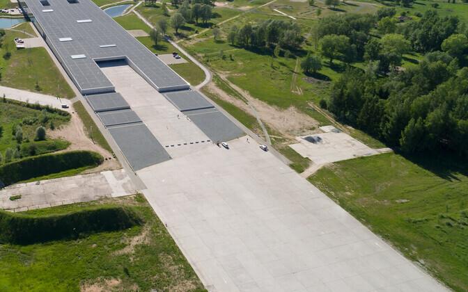 The Estonian National Museum's B parking lot.