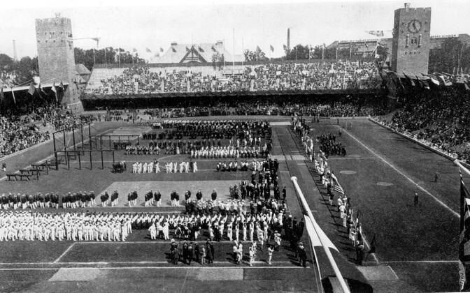 Церемония открытия Олимпийских игр 1912 года.