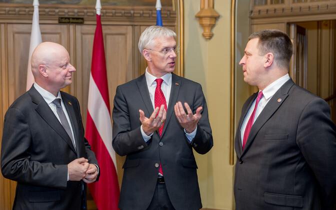 Премьер-министры Эстонии, Латвии и Литвы.