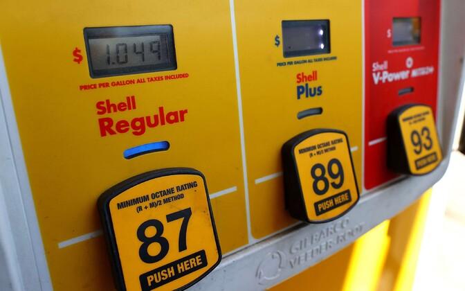 tavapäratult madal bensiinigalloni hind USA-s Marylandi osariigis.