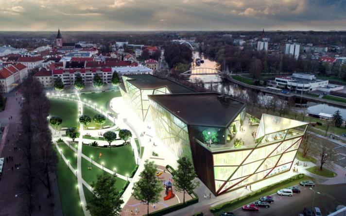 Kavandatav Tartu kultuurikeskus.