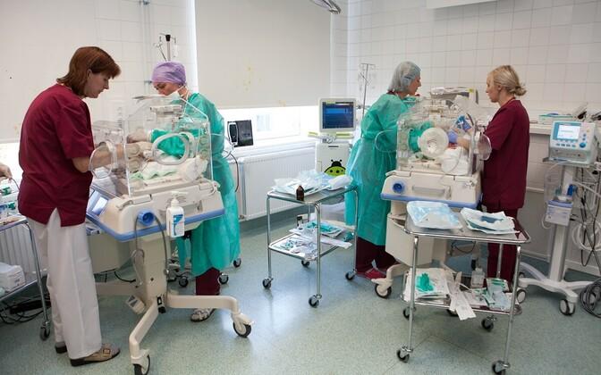Maternity ward of the Tallinn Central Hospital.