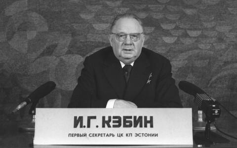 Eestimaa Kommunistliku Partei Keskkomitee esimene sekretär Johannes Käbin 1977. aastal Kesktelevisioonis.