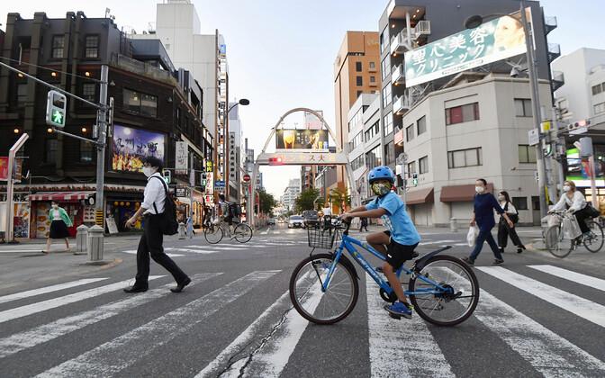 Inimesed Aichi prefektuuris Nagoya linnas.