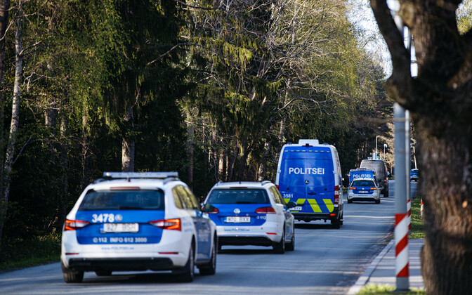 PPA vehicles during Thursday's bear hunt in Tallinn.
