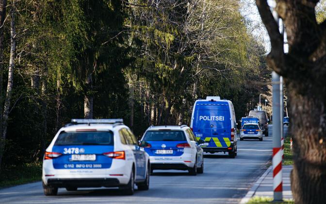 PPA vehicles during Thursday's bear hunt in Tallinn.