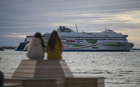 Tallink ship departing from Tallinn.