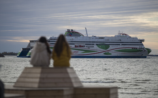 Tallink ship departing from Tallinn.