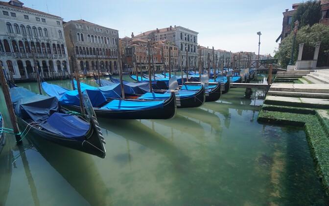Haruldane vaatepilt - turistideta Veneetsia.