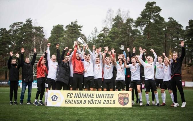 2019. aastal Esiliiga B võitnud Nõmme United