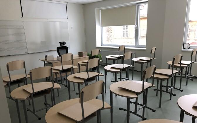 Tühi klassiruum.