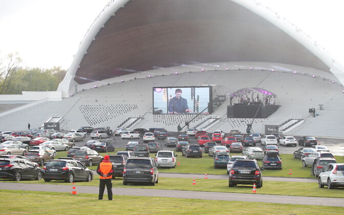 The Song Festival Grounds saw some use during the peak of the coronavirus pandemic, in this case as a drive-in venue.