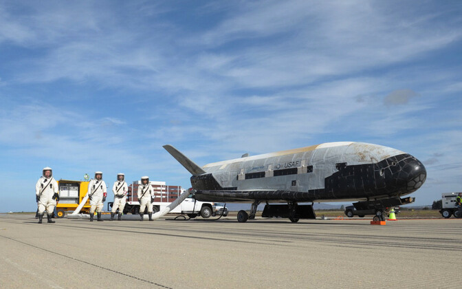 X-37B pärast eelmiselt missioonilt tagasipöördumist.