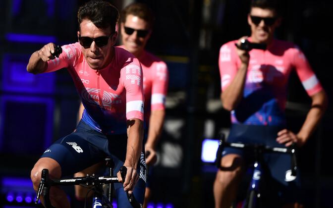 Rigoberto Uran eelmise aasta Tour de France'i avaetapi presentatsioonil, mis toimus Brüsselis