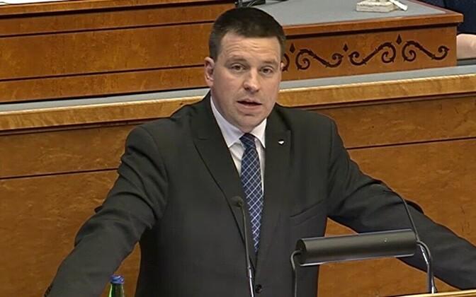 Prime Minister Jüri Ratas in the Riigikogu.