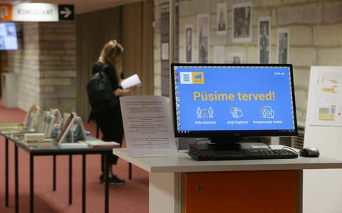 Rahvusraamatukogu esimest päeva avatud pärast eriolukorda