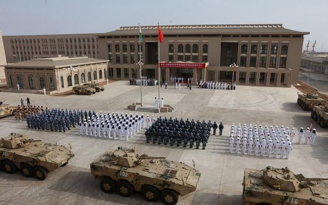Hiina relvajõudude paraad Djibouti baasi avamisteremoonial 1. augustil 2017.