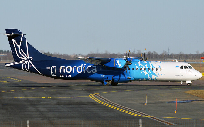 A turboprop aircraft in Nordica livery.