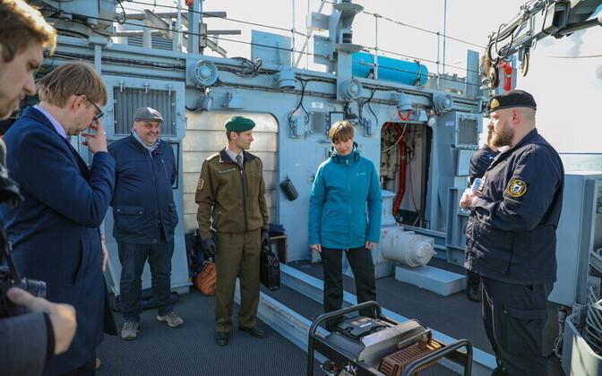President Kersti Kaljulaid on the Admiral Cowan