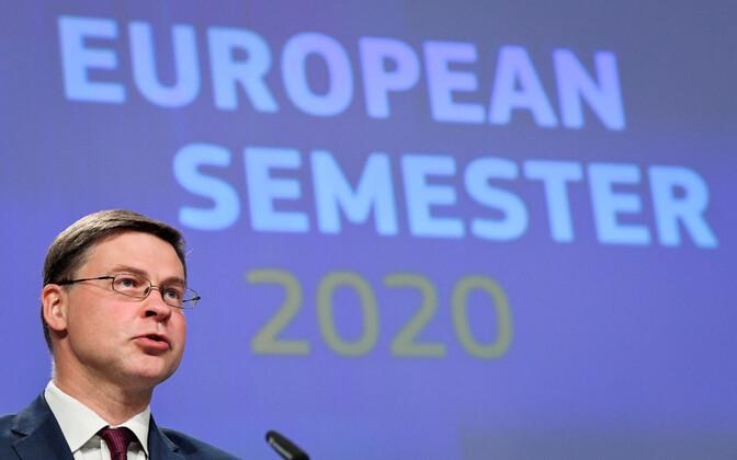 Вице-президент Европейской комиссии Валдис Домбровскис представил рекомендации по странам.