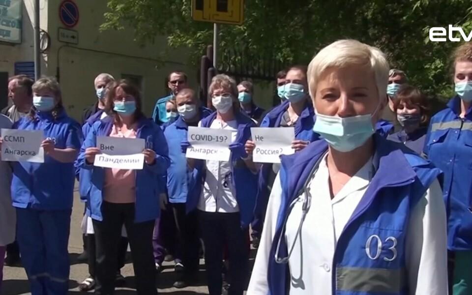 Российские медики были вынуждены записывать открытые видеообращения к президенту России.