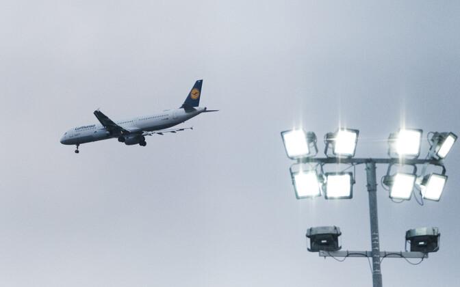 Lufthansa lennuk Tallinnas.