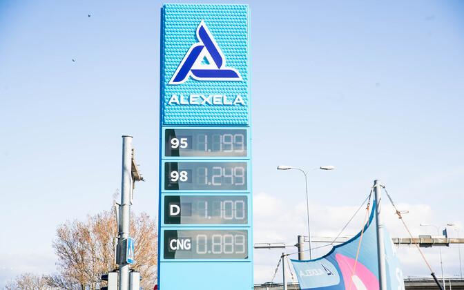 Alexela filling station in late April (diesel has since dropped below a euro per liter).