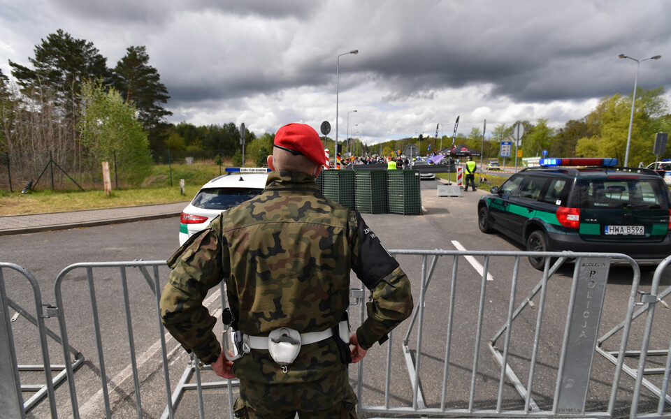 Протесты на границы Польши и Германии.