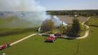 Пожар в деревне Лаупа в Ярвамаа.