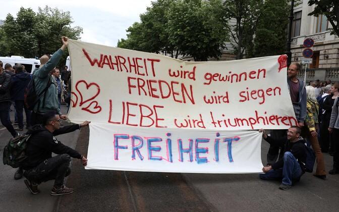 Piirangute vastane meeleavaldus Berliinis 23.mail.