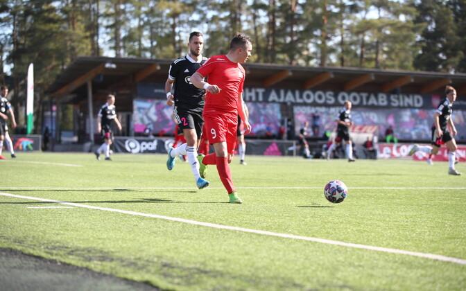 Tallinna JK Legioni ründaja Marek Šatov kohtumises Nõmme Kalju FC vastu