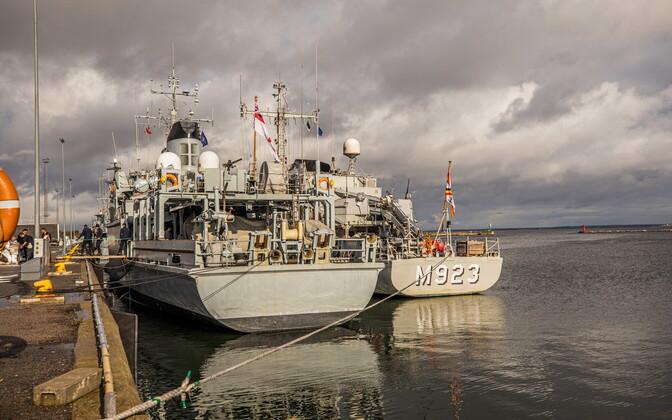 Корабли противоминной группы НАТО.