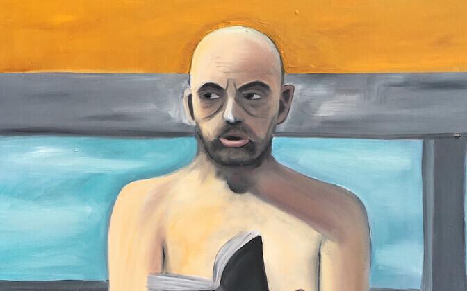 EKA maalistuudio kursusel valminud portree