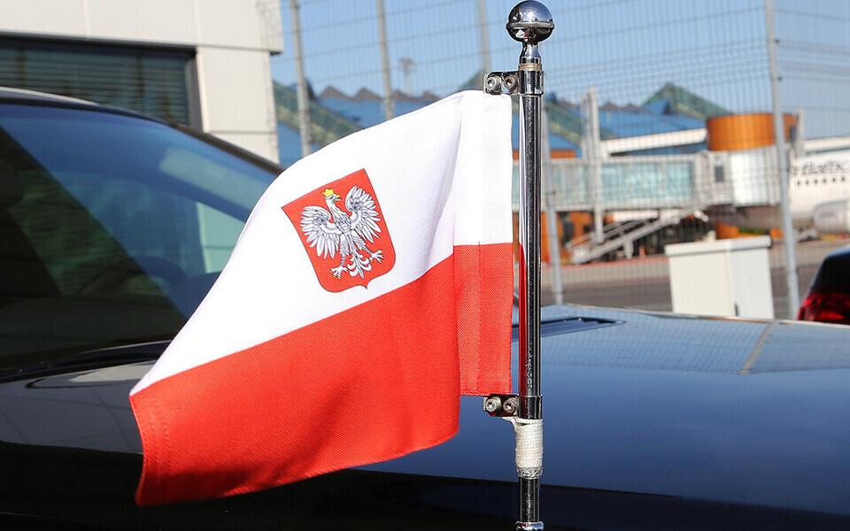 Флаг Польши.
