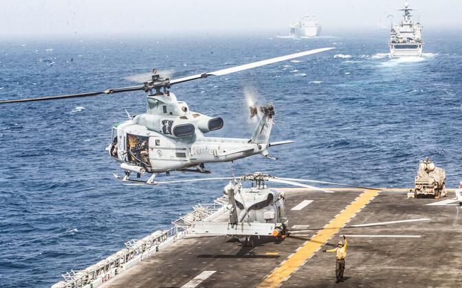 USA mereväe alused Hormuzi väina piirkonnas.