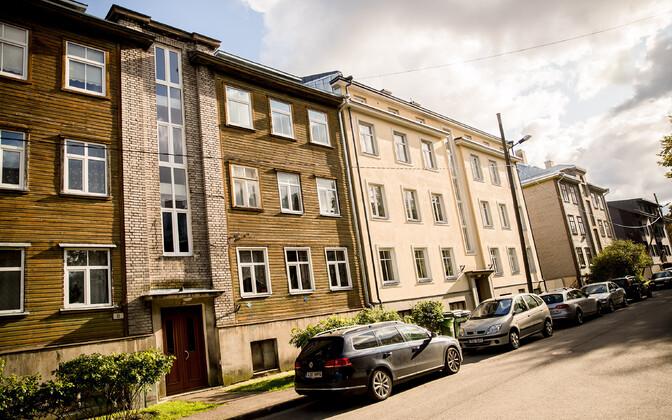 Houses in the Kalamaja district of Tallinn