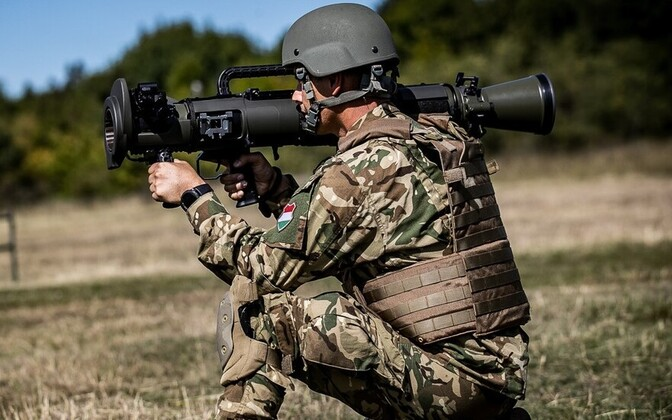 Carl-Gustaf M4 handled by a member of the Hungarian Defence Forces
