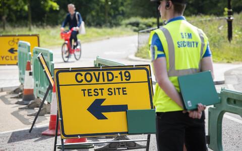 Тестирование на коронавирус в Лондоне.