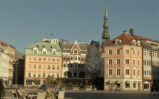 The heart of the Latvian capital Riga's UNESCO-listed Old Town.