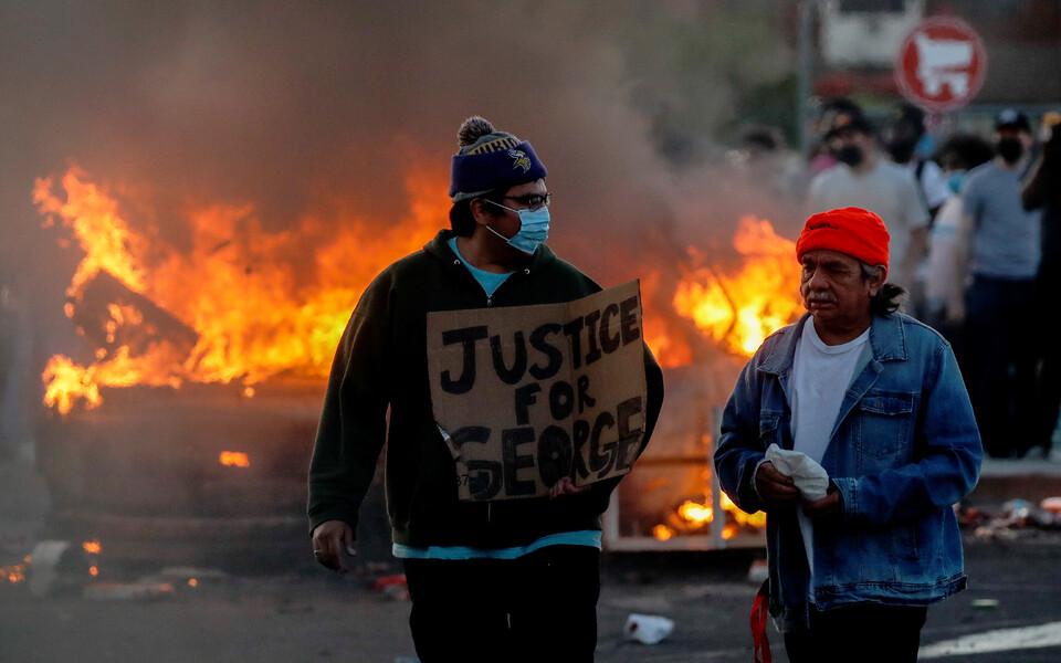 Протесты в Миннеаполисе.